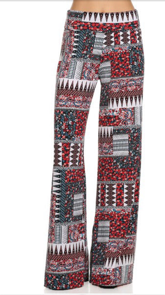 Palazzo Pants Country Print -A Mom's Attic