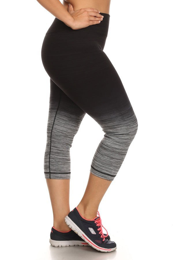 Plus Size Activewear - Ombre Black And Charcoal Plus Size-A Mom's Attic
