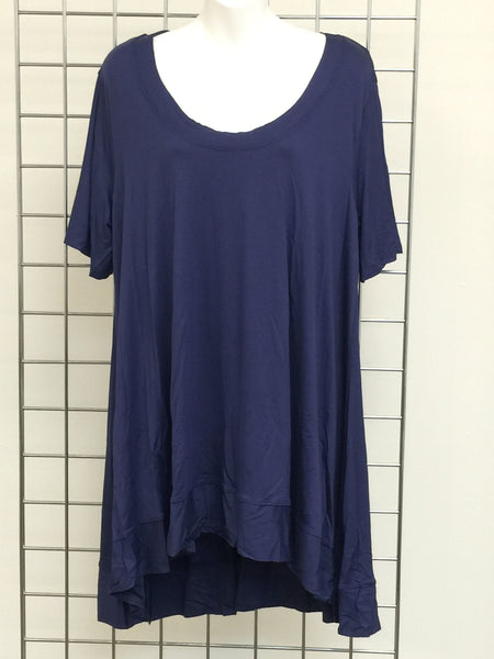 CANARI Denim Blue woman's Tunic Top-A mom's Attic
