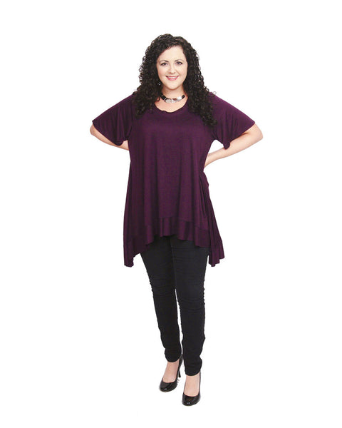 CANARI Eggplant Tunic Top-A mom's Attic