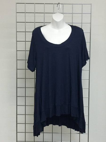 CANARI Navy Blue Tunic Top Women's Plus Size-A mom's Attic
