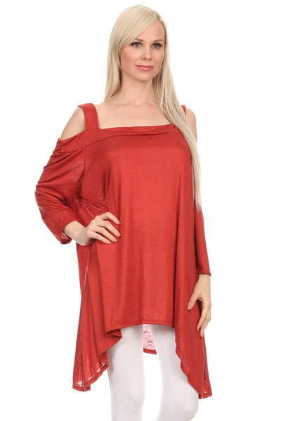CANARI  Cold Shoulder Tunic Women's Plus Size-A mom's Attic