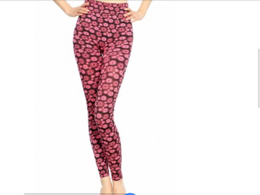 Print Leggings - Sun Flower Seamless Leggings