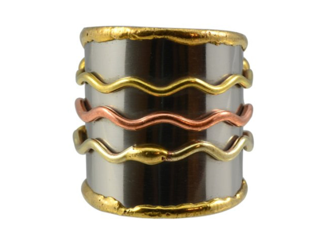 Rings - Three Waves Cuff Ring