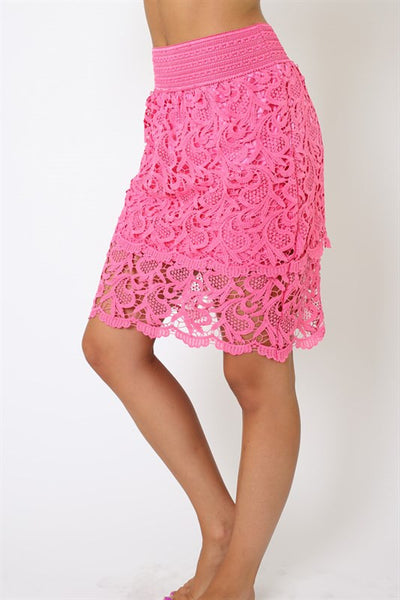 Skirts - Lace Skirt W/ Underlay