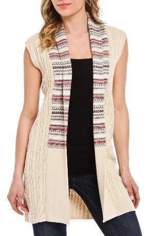 Sweater - Cashmere Blend Long Cardigan Uma Tyler Sweater Vest