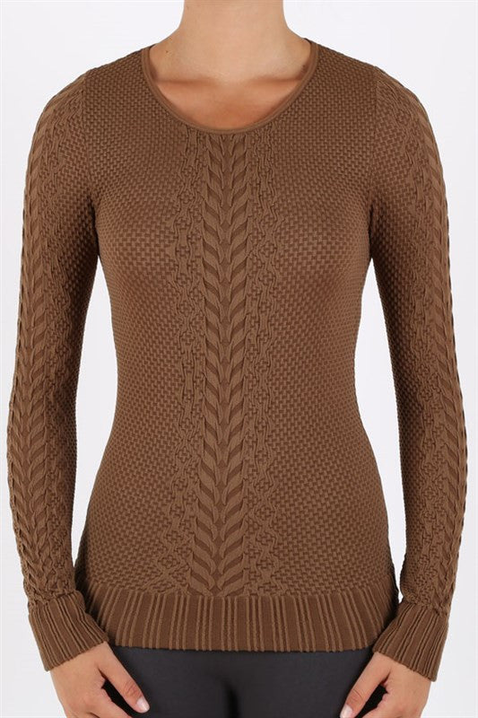 Sweater - Textured Lightweight Sweater Assorted Colors