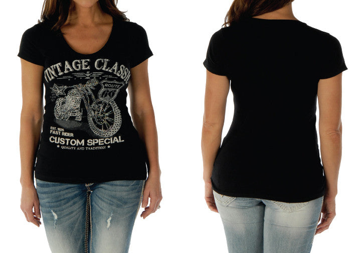 Liberty Wear Vintage Classic Women's Motorcycle Top