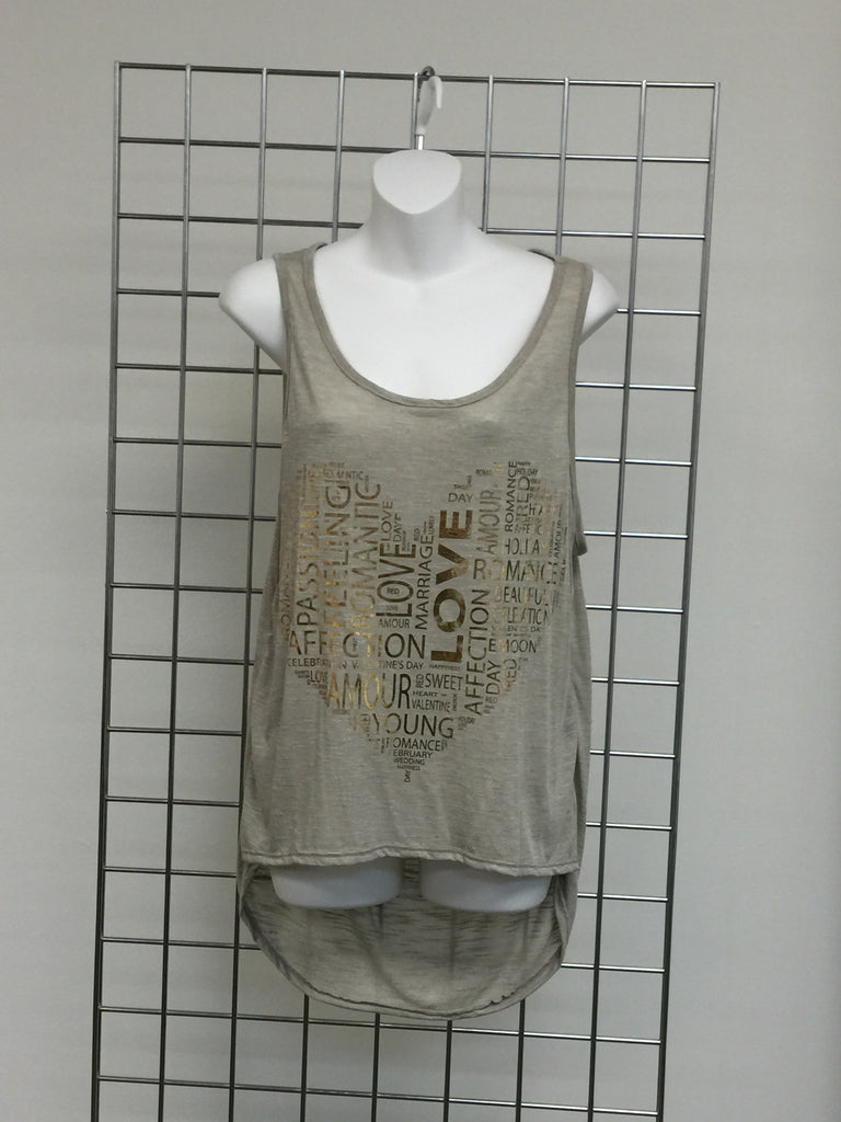 Tank Tops - Love Tank Top Assorted Colors W/ Cut Out Draped Back