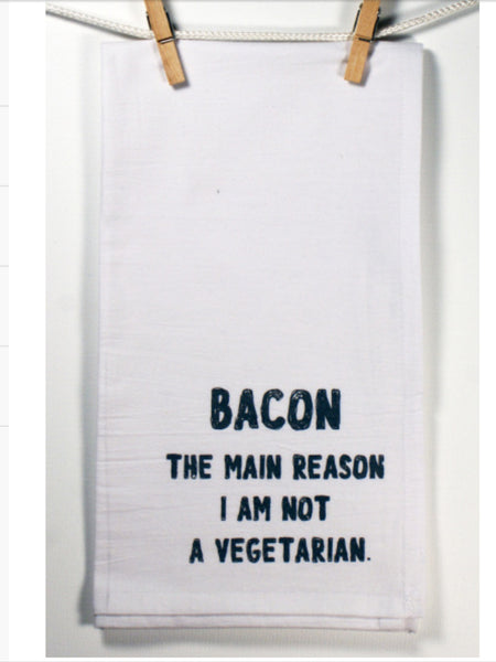 "Towels - Honestly Flour Sack Kitchen / Bar Towel - ""Bacon""-A Mom's Attic"