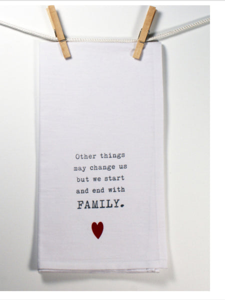 "Towels - Honestly Flour Sack Kitchen / Bar Towel - ""Family""-A Mom's Attic"