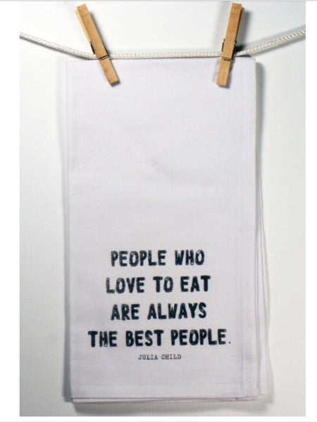 "Towels - Honestly Flour Sack Kitchen / Bar Towel - ""Love To Eat"""