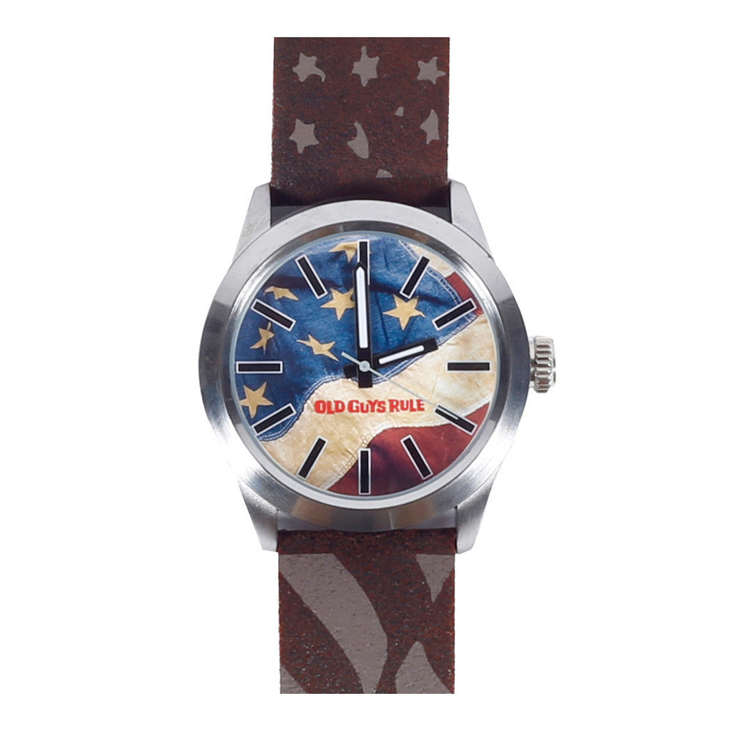 """Old Glory"" Old Guys Rule Limited Edition Watch-A mom's Attic"