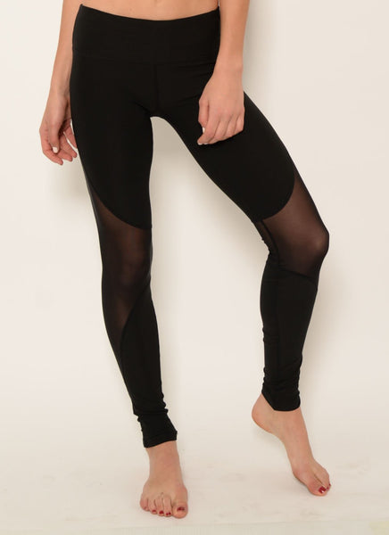 Yoga Wear - Ana Zabella Black Mesh Active Pants