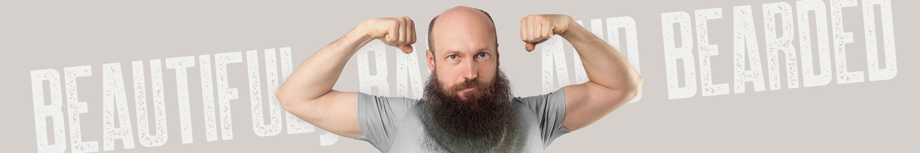beautiful bald and bearded collection graphic tees