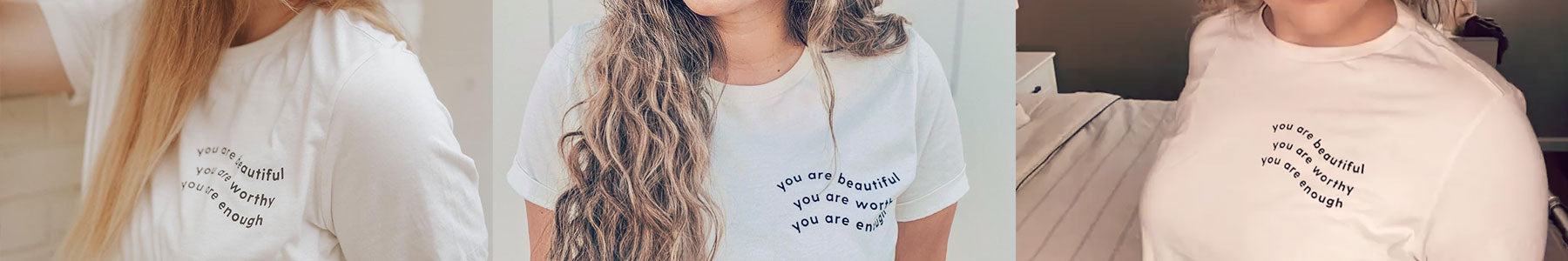 inspire collection graphic tees worth beautiful and enough