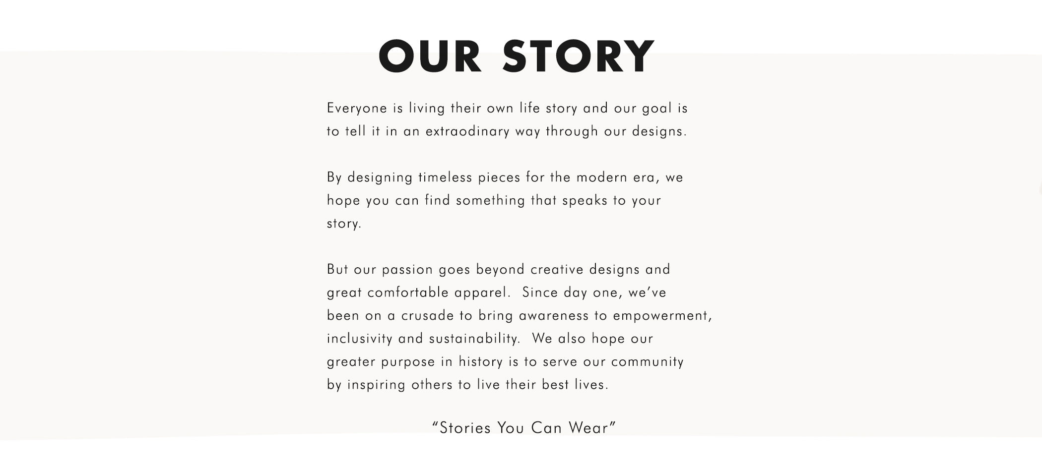 Stories You Can Wear by Thread Tank