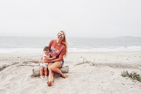 Shauna Bligh aka @stayinghomesawyer Mom Life Best Life Heather Rouge Relaxed Graphic Tee