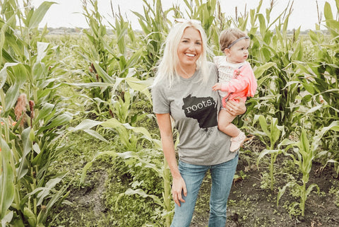 Shauna Bligh aka @stayinghomesawyer Wisconsin Roots State Graphic Tee