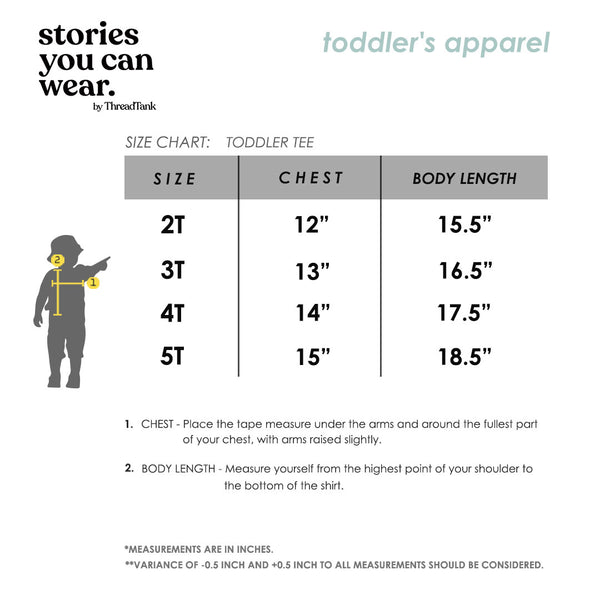 Toddler's Crew Size Chart