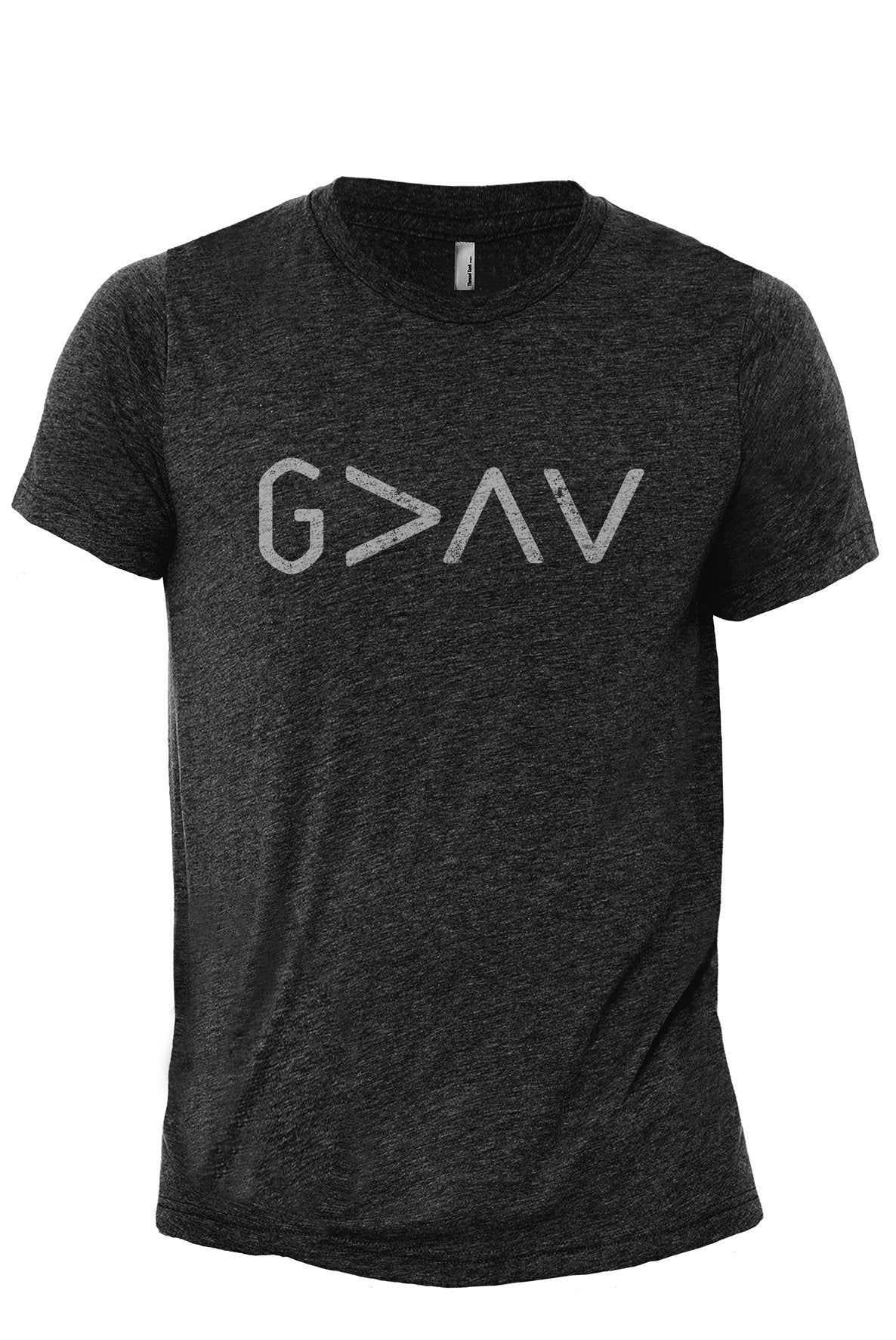 God Is Greater Than The Highs And Lows Charcoal Printed Graphic Men's Crew T-Shirt Tee