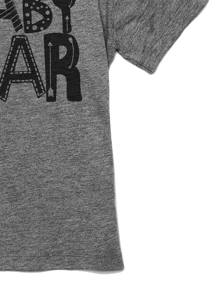 Baby Bear Toddler's Go-To Crewneck Tee Heather Grey Zoom Details B