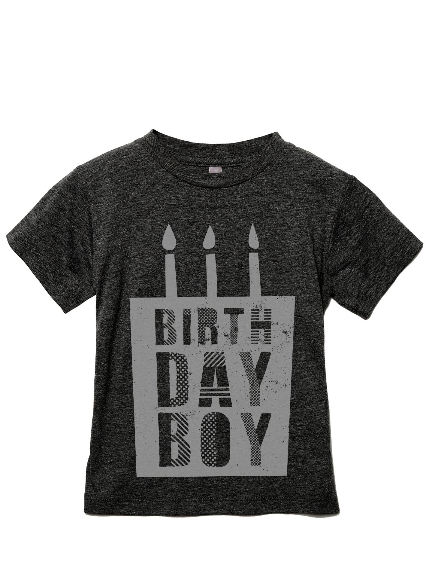 Birthday Boy Toddler's Go-To Crewneck Tee Charcoal