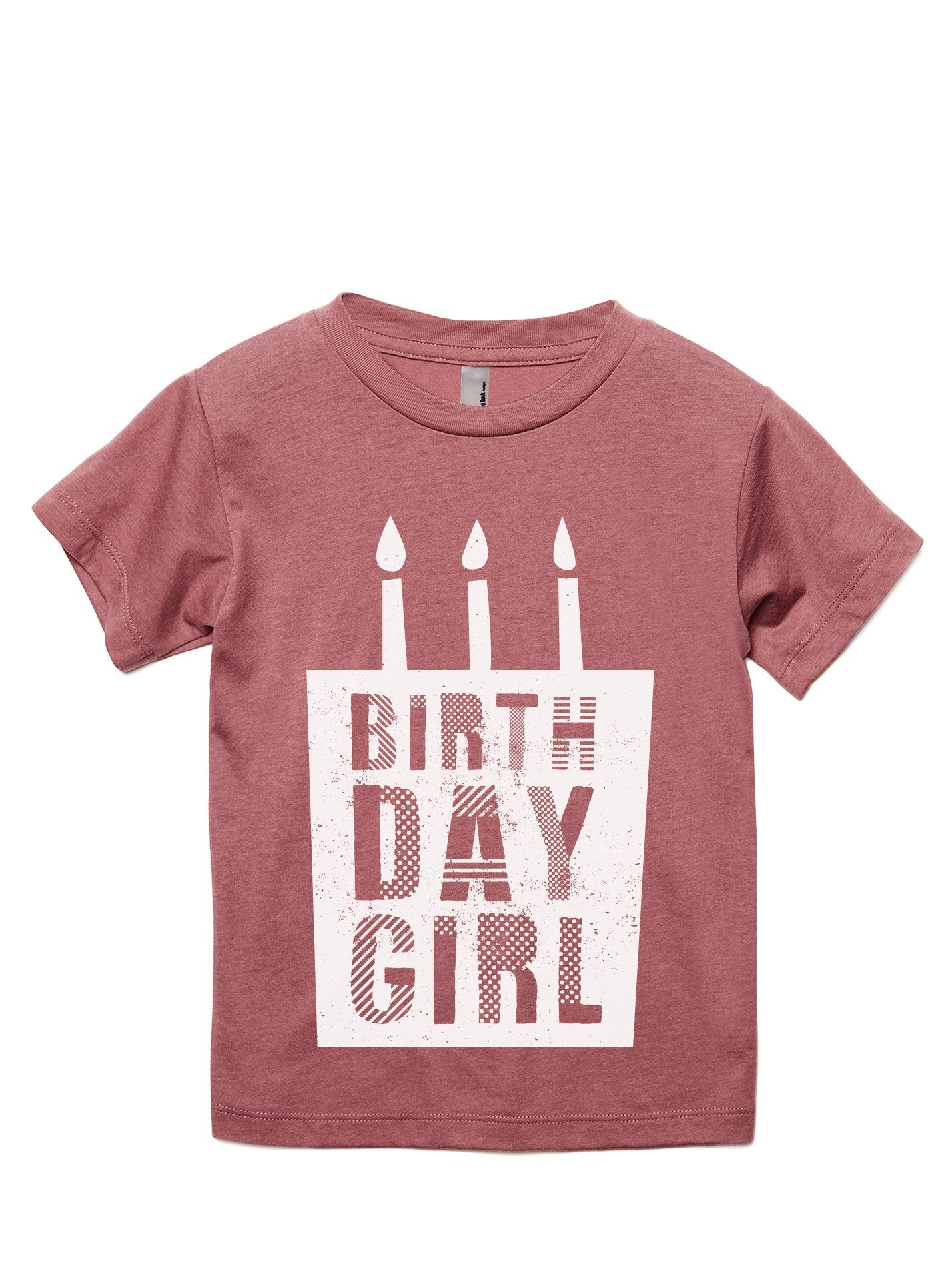 Birthday Girl Toddler's Go-To Crewneck Tee Heather Rouge