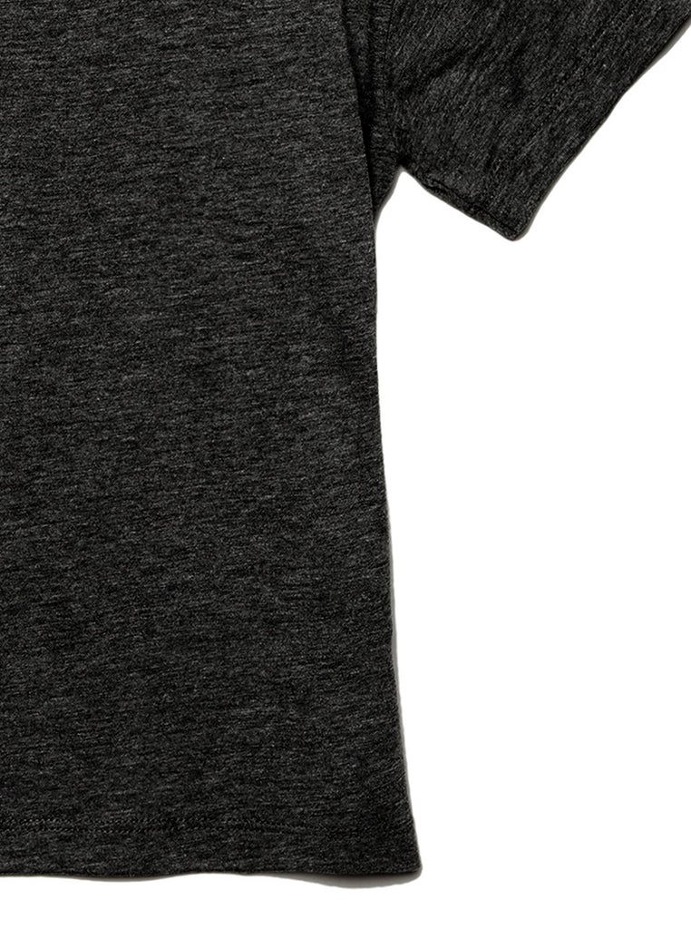 Daughter Friends Toddler's Go-To Crewneck Tee Charcoal Zoom Details B