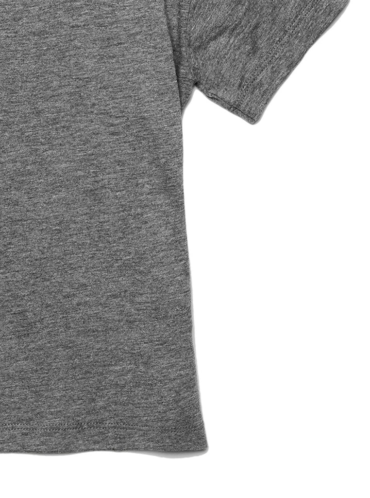 Daughter Friends Toddler's Go-To Crewneck Tee Heather Grey Zoom Details B