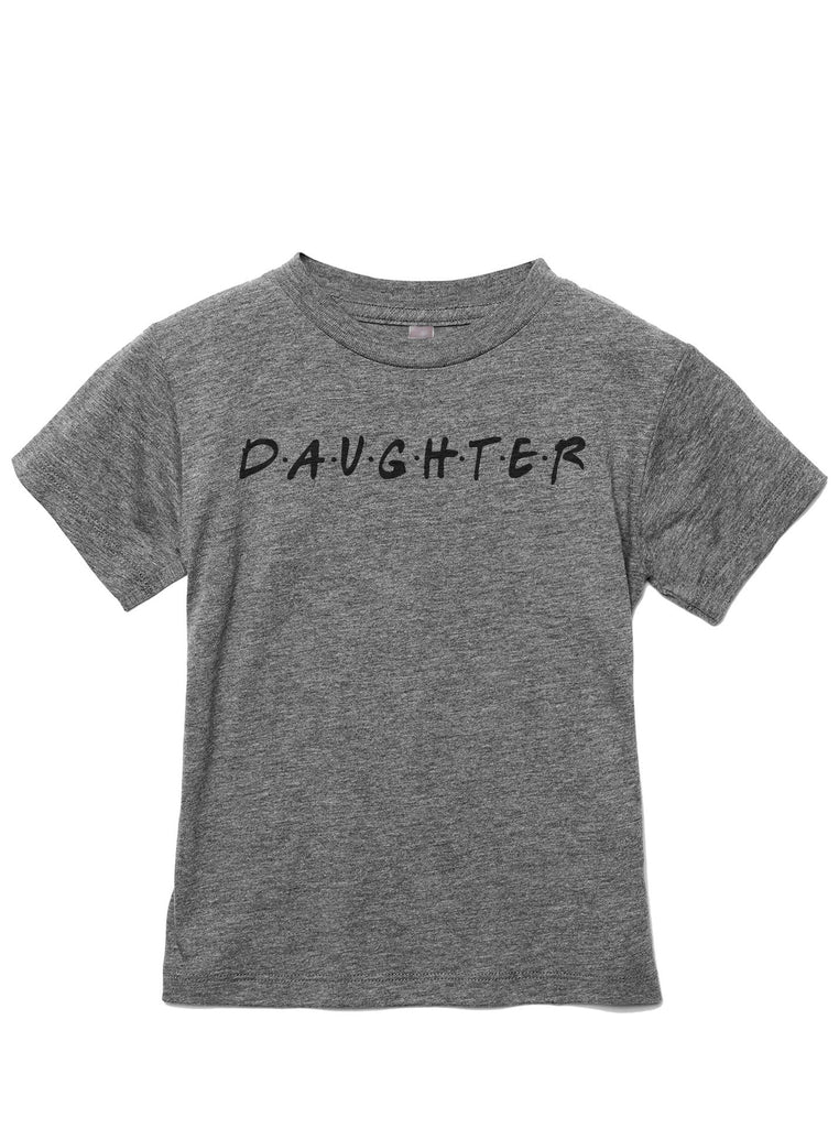 Daughter Friends Toddler's Go-To Crewneck Tee Heather Grey
