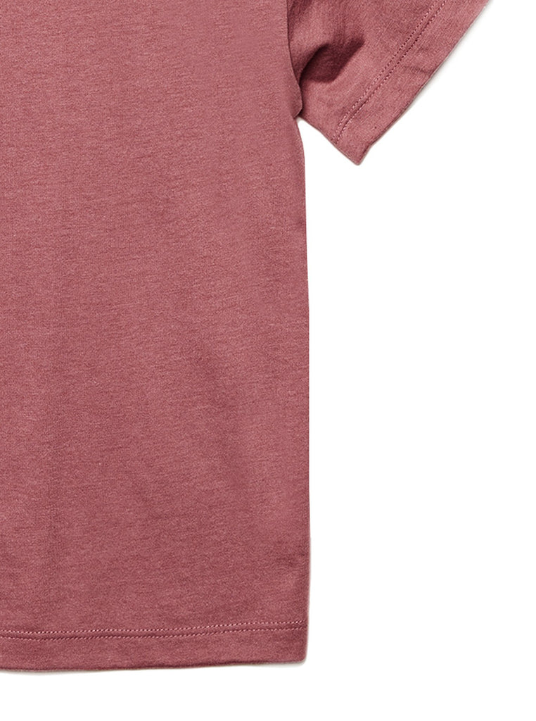 Daughter Friends Toddler's Go-To Crewneck Tee Heather Rouge Zoom Details B