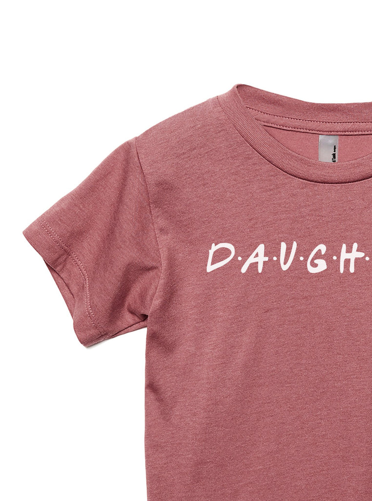 Daughter Friends Toddler's Go-To Crewneck Tee Heather Rouge Zoom Details A