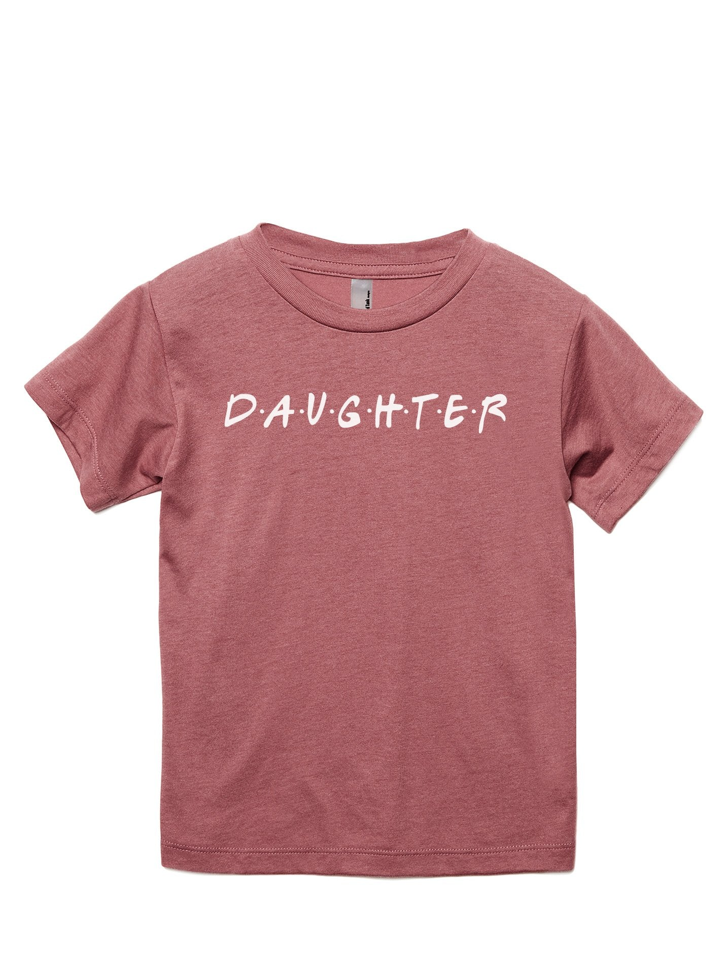 Daughter Friends Toddler's Go-To Crewneck Tee Heather Rouge