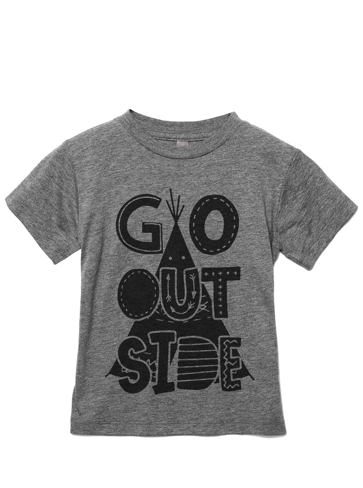Go Outside Toddler's Go-To Crewneck Tee Heather Grey
