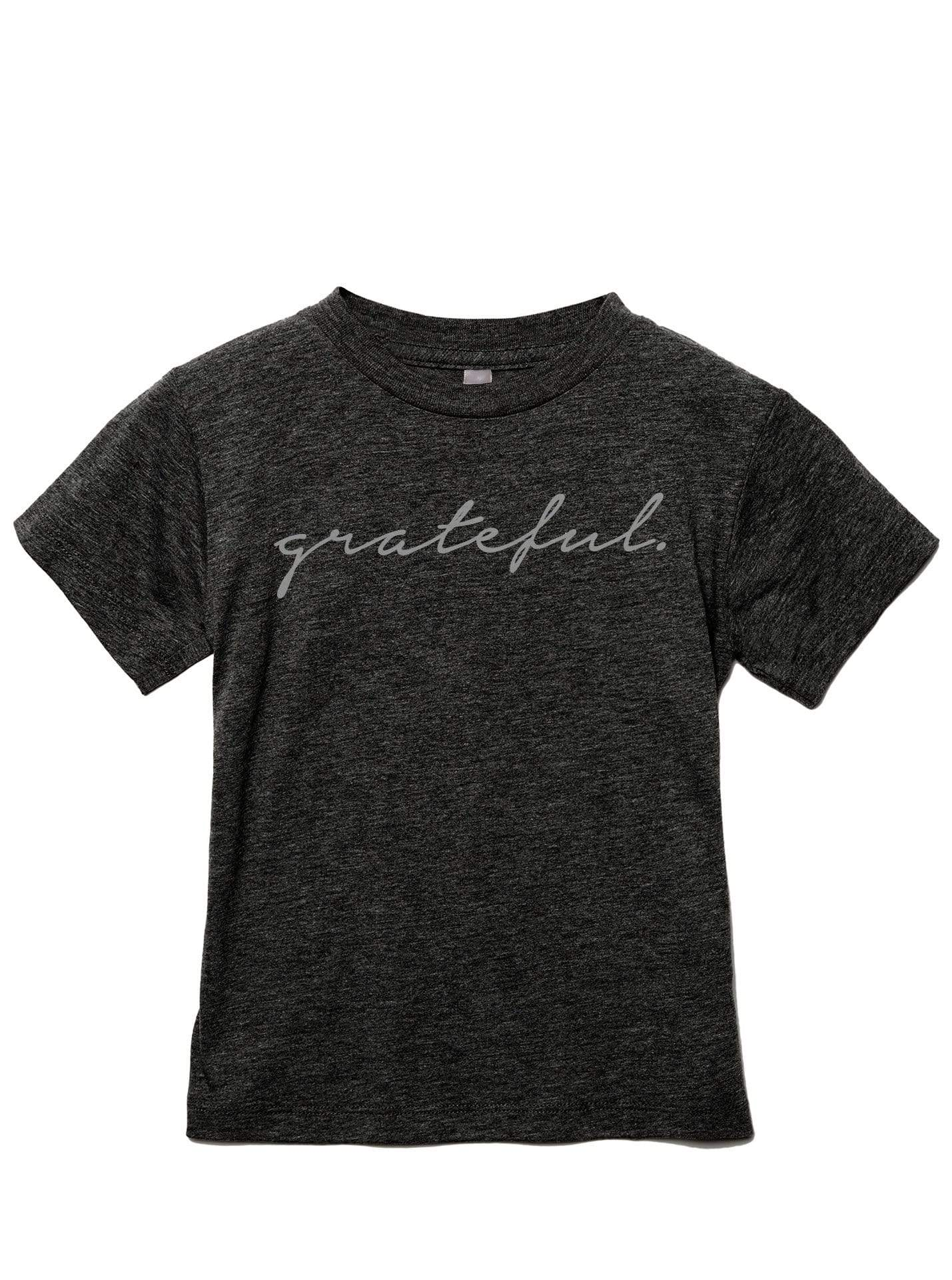 Grateful Kid Toddler's Go-To Crewneck Tee Charcoal