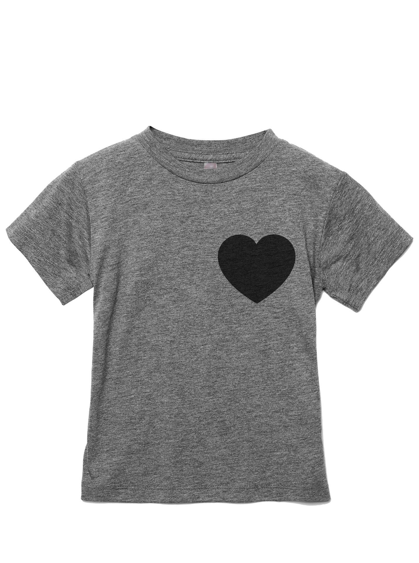 Small Heart Toddler's Go-To Crewneck Tee Heather Grey