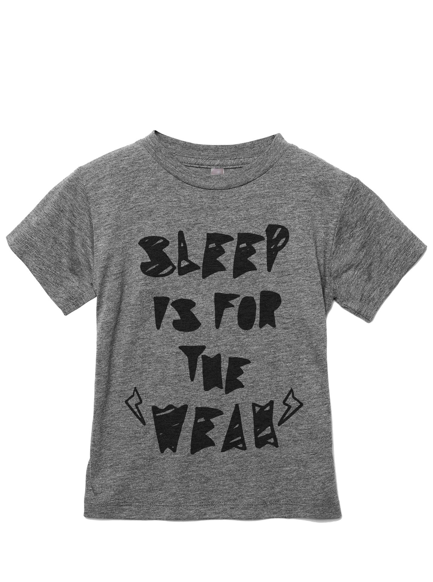 Sleep Is For The Weak Toddler's Go-To Crewneck Tee Heather Grey