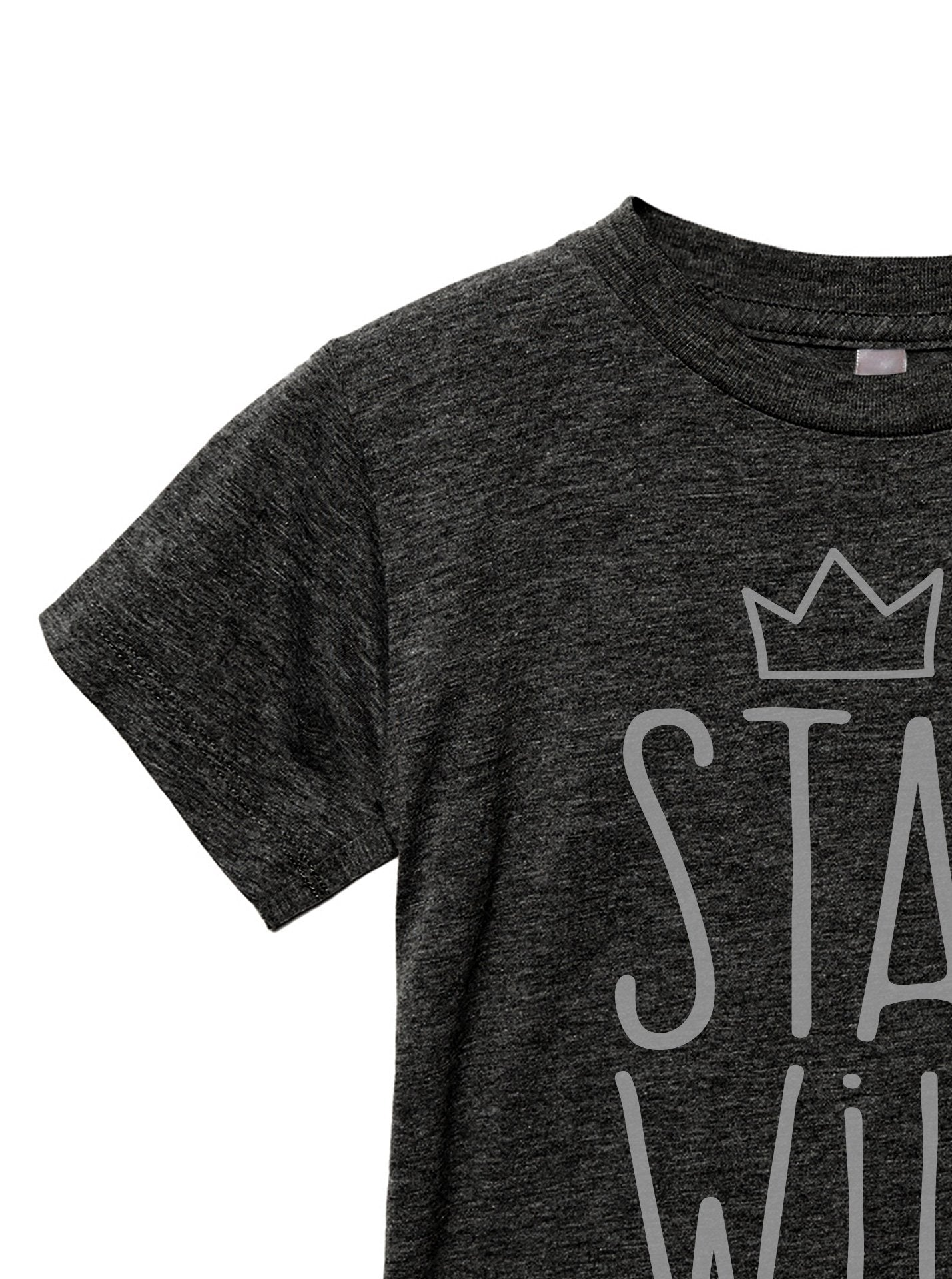 Stay Wild Toddler's Go-To Crewneck Tee Charcoal