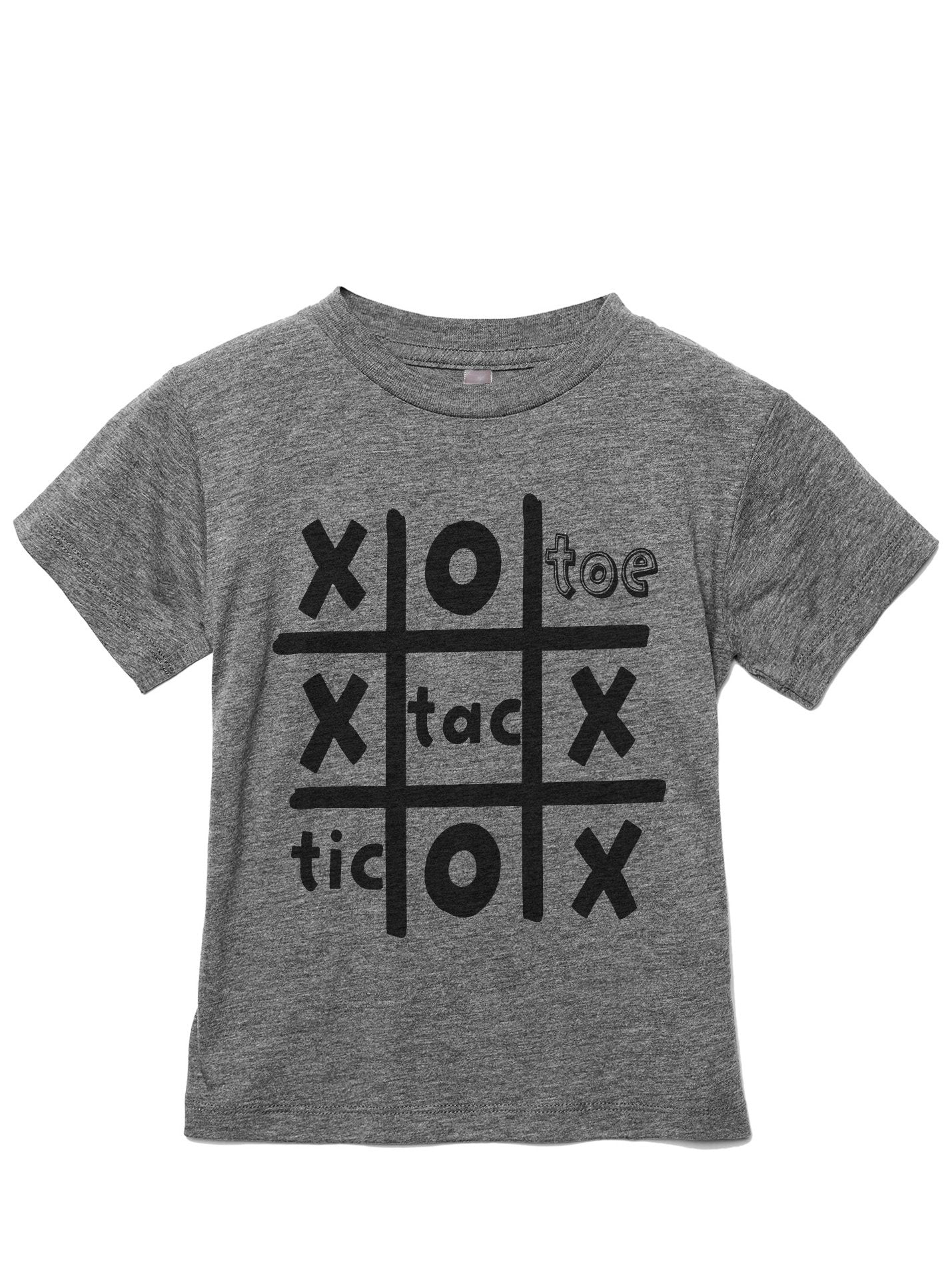 Tic Tac Toe Toddler's Go-To Crewneck Tee Heather Grey