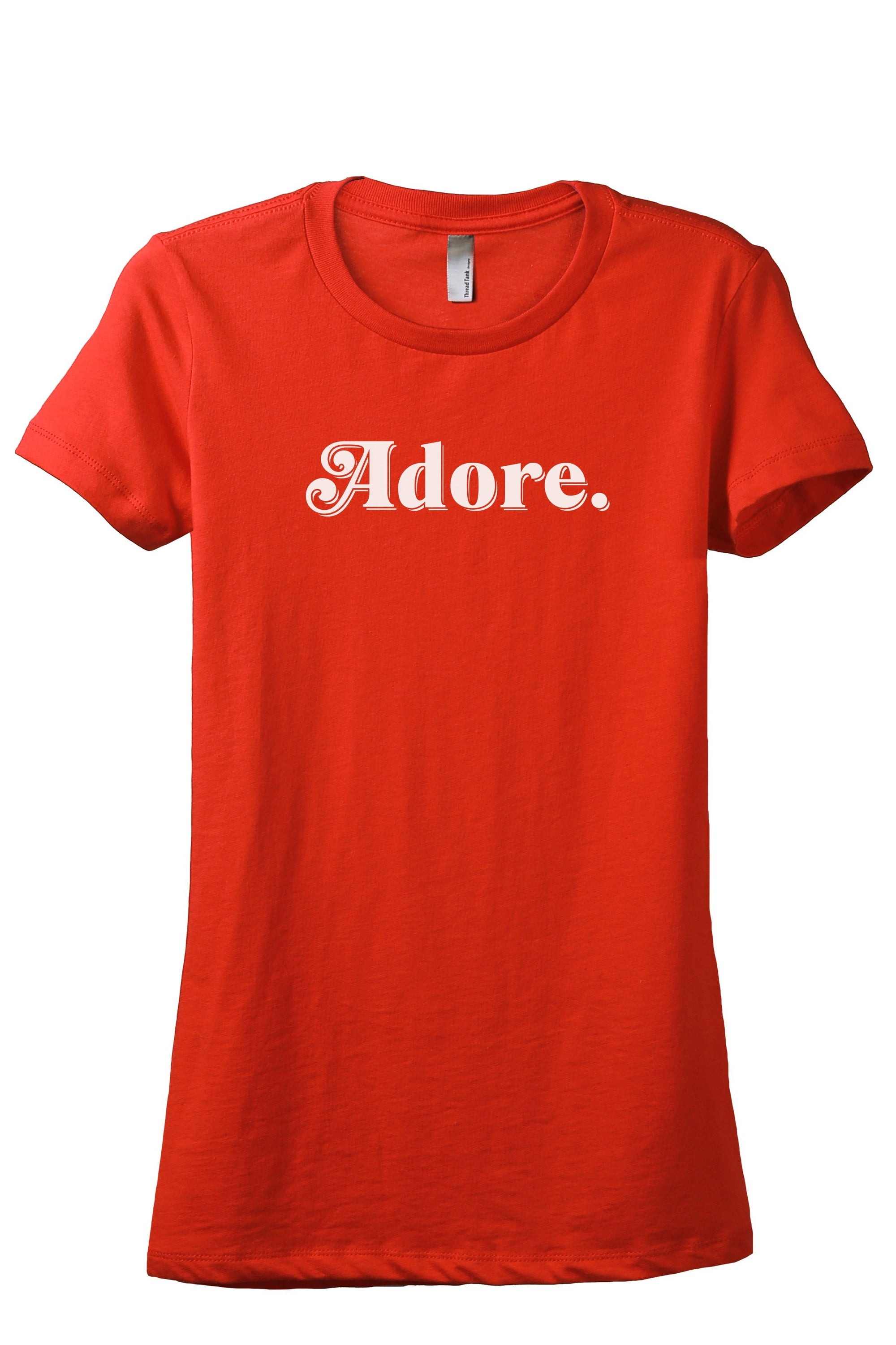Adore Women's Relaxed Crewneck T-Shirt Top Tee Poppy