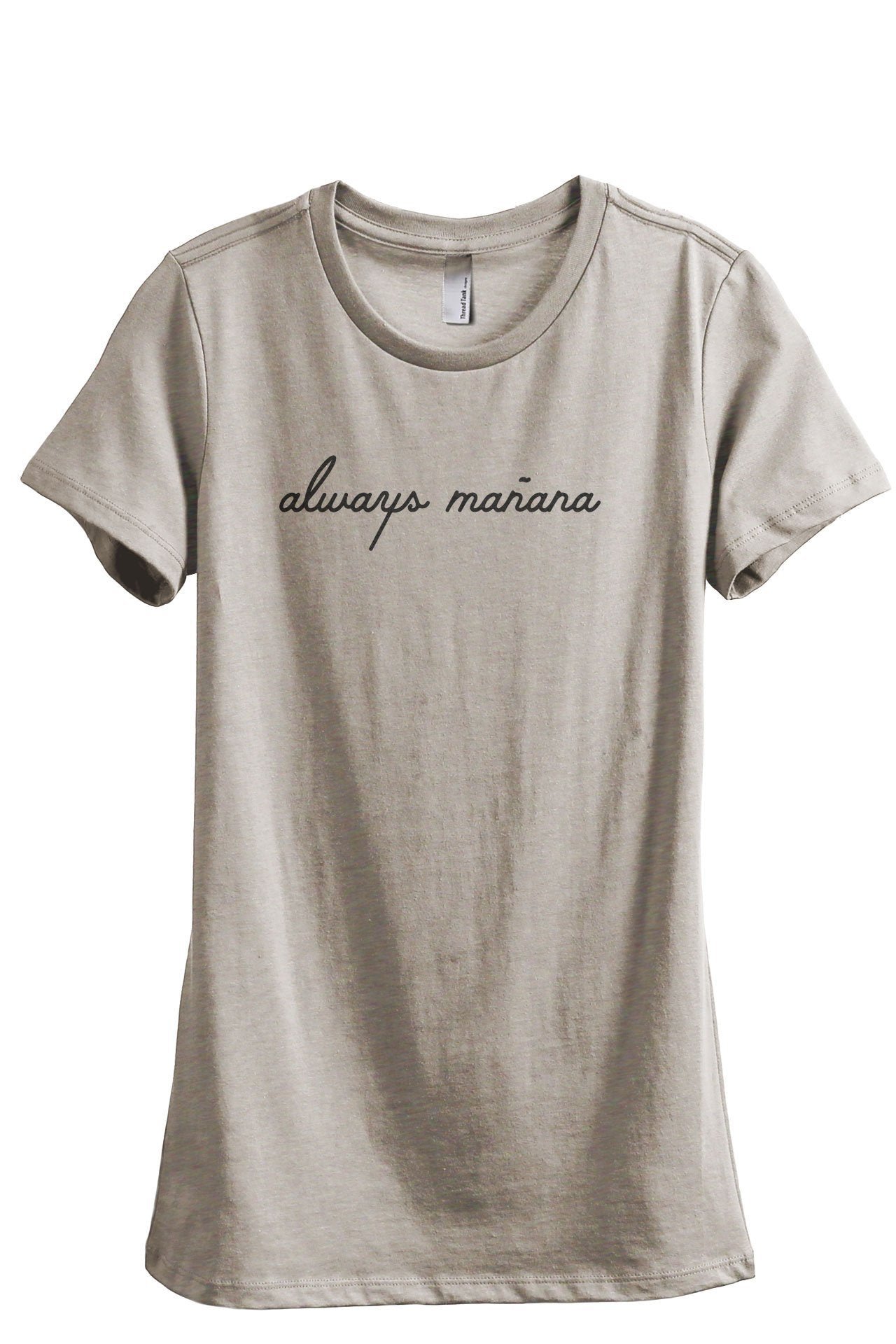 Always Manana Women's Relaxed Crewneck T-Shirt Top Tee Charcoal Grey