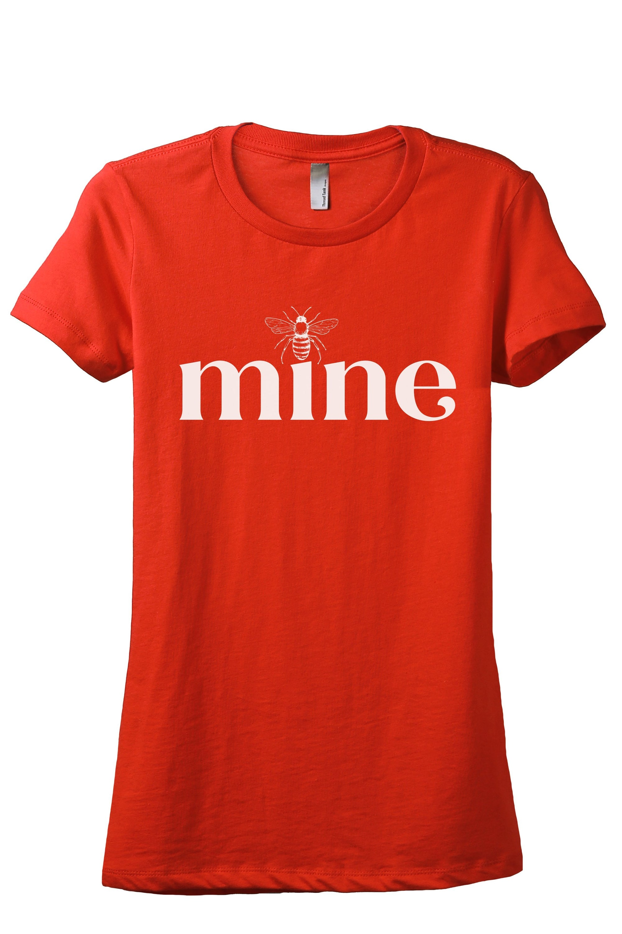 Bee Mine Women's Relaxed Crewneck T-Shirt Top Tee Poppy