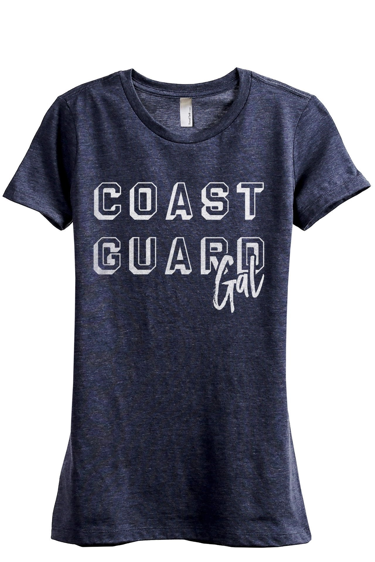 Coast Guard Gal Women's Relaxed Crewneck T-Shirt Top Tee Heather Navy Grey