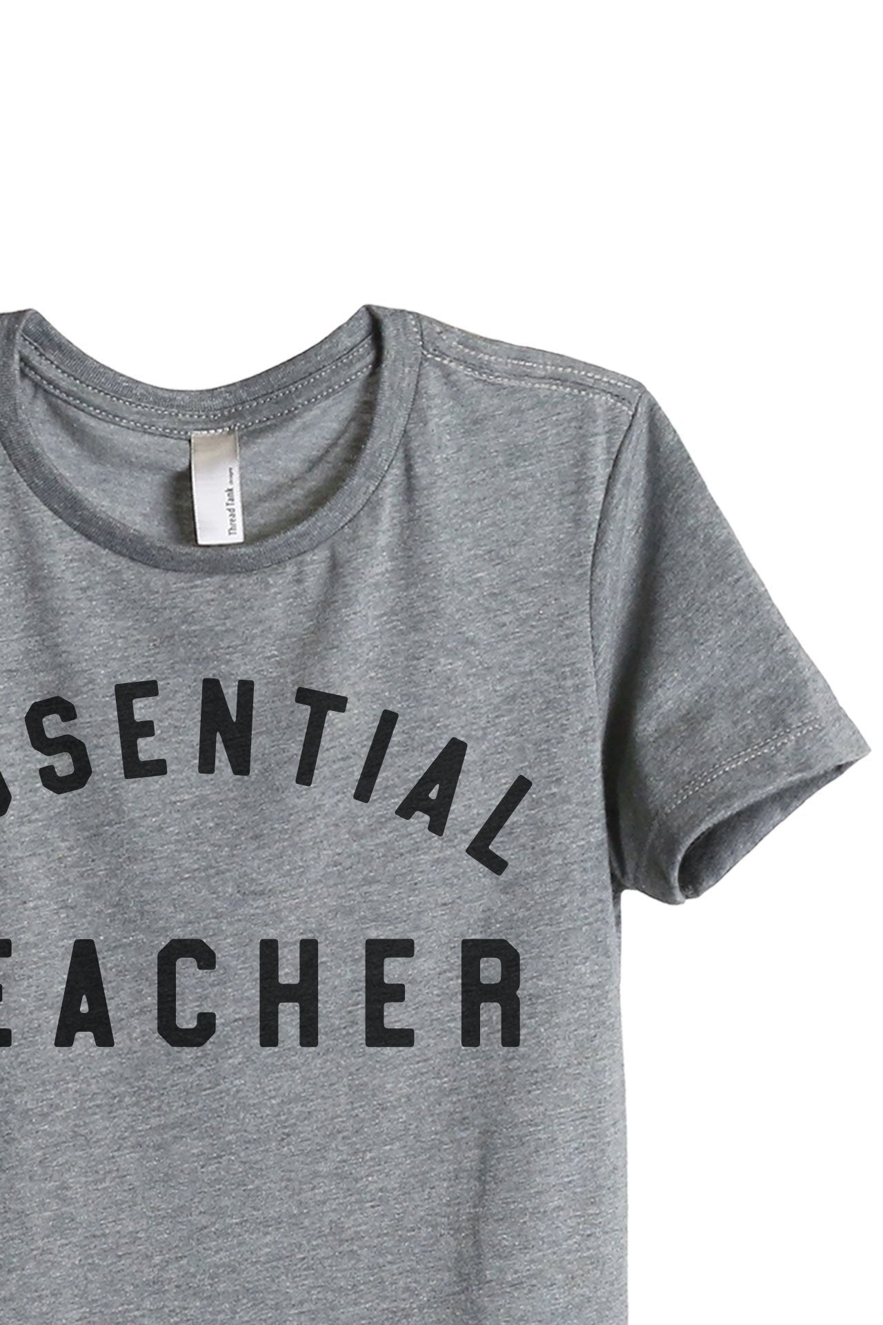 Essential Teacher Women's Relaxed Crewneck T-Shirt Top Tee Heather Grey