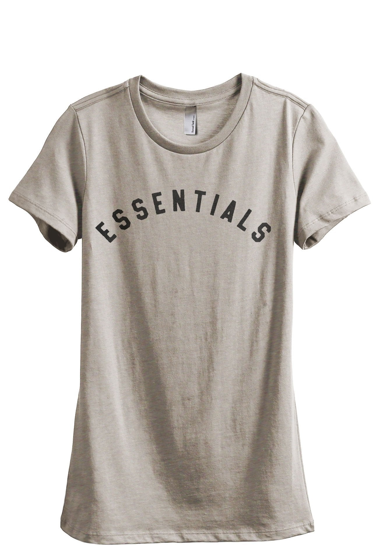 Essentials Women's Relaxed Crewneck T-Shirt Top Tee Charcoal Grey