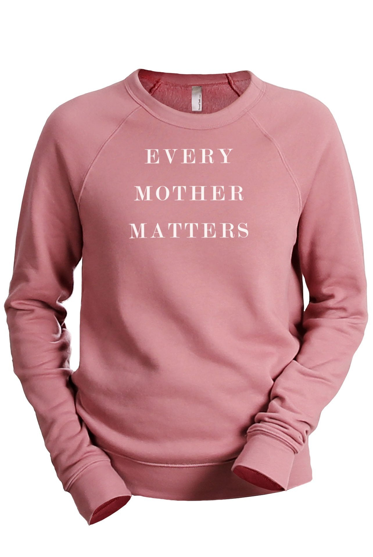 Every Mother Matters Women's Cozy Fleece Longsleeves Sweater Rouge FRONT