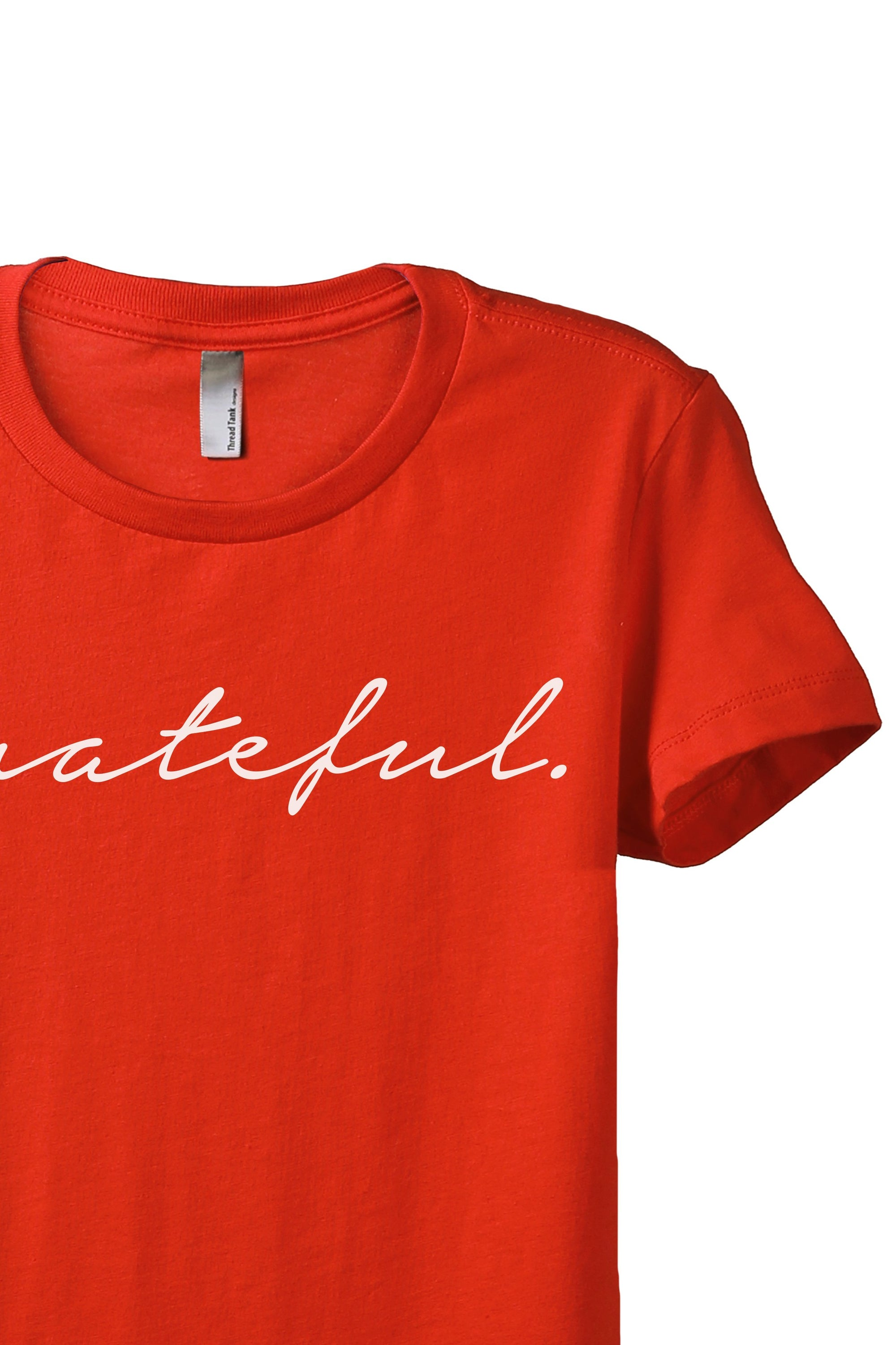 Grateful Women's Relaxed Crewneck T-Shirt Top Tee Poppy