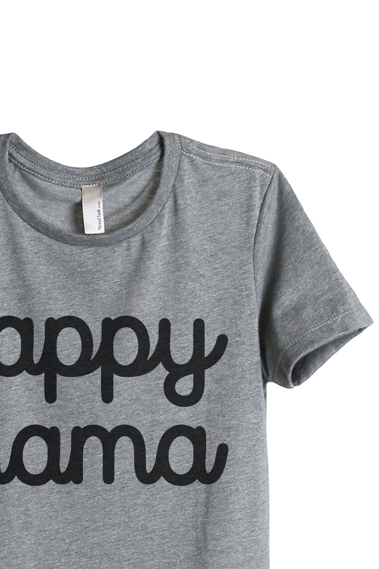 Happy Mama Women's Relaxed Crewneck T-Shirt Top Tee Heather Grey