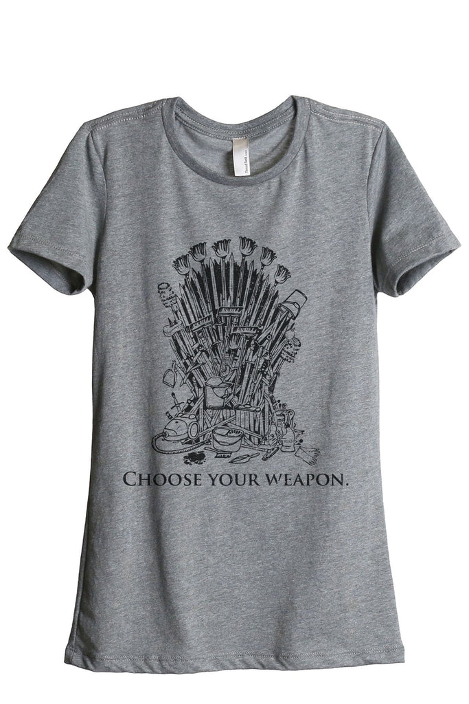 Iron Throne Housewife Women's Relaxed Crewneck T-Shirt Top Tee Heather Grey